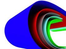 χρωματισμένες καμπύλες π&omi απεικόνιση αποθεμάτων