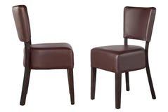 Χρωματισμένες καρέκλες σε ένα άσπρο υπόβαθρο Στοκ Εικόνες