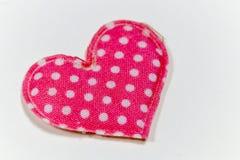 Χρωματισμένες καρδιές με το άσπρο υπόβαθρο Στοκ Φωτογραφία