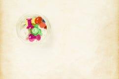Χρωματισμένες καρφίτσες Στοκ Εικόνα