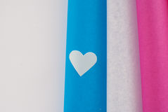 Χρωματισμένες καρδιές Στοκ Εικόνα