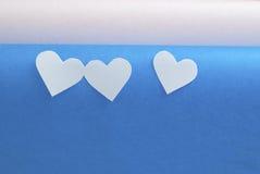 Χρωματισμένες καρδιές Στοκ φωτογραφία με δικαίωμα ελεύθερης χρήσης