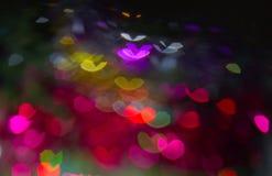 Χρωματισμένες καρδιές Στοκ Φωτογραφίες
