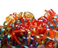 χρωματισμένες κατσαρώνοντας κορδέλλες σωρών Στοκ φωτογραφία με δικαίωμα ελεύθερης χρήσης