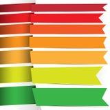 Χρωματισμένες κορδέλλες για το σχέδιό σας Στοκ εικόνα με δικαίωμα ελεύθερης χρήσης