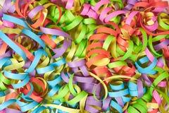 Χρωματισμένες κορδέλλες εγγράφου στοκ φωτογραφία με δικαίωμα ελεύθερης χρήσης
