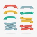 Χρωματισμένες κορδέλλες στο διάνυσμα Στοκ φωτογραφία με δικαίωμα ελεύθερης χρήσης