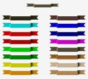 Χρωματισμένες κορδέλλες Στοκ Εικόνα