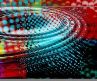 χρωματισμένες κυματώσει&s Στοκ φωτογραφία με δικαίωμα ελεύθερης χρήσης