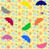 χρωματισμένες ομπρέλες Στοκ Εικόνες