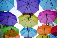 χρωματισμένες ομπρέλες Στοκ εικόνες με δικαίωμα ελεύθερης χρήσης
