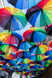 χρωματισμένες ομπρέλες Στοκ φωτογραφία με δικαίωμα ελεύθερης χρήσης