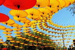 Χρωματισμένες ομπρέλες Lanna στοκ φωτογραφία