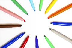 χρωματισμένες πέννες δει&kap Στοκ εικόνες με δικαίωμα ελεύθερης χρήσης