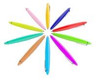 χρωματισμένες πέννες Στοκ εικόνες με δικαίωμα ελεύθερης χρήσης
