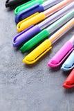 χρωματισμένες πέννες Στοκ εικόνα με δικαίωμα ελεύθερης χρήσης