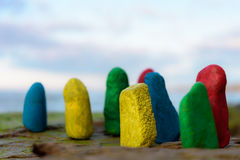 Χρωματισμένες πέτρες θάλασσας Στοκ φωτογραφία με δικαίωμα ελεύθερης χρήσης
