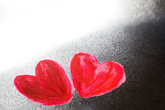 Χρωματισμένες περίληψη καρδιές Στοκ φωτογραφίες με δικαίωμα ελεύθερης χρήσης