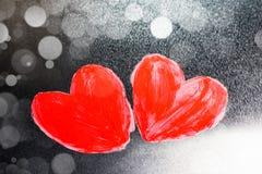 Χρωματισμένες περίληψη καρδιές Στοκ Εικόνες