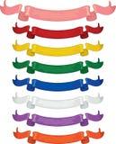 χρωματισμένες πολυ κορδέλλες Στοκ εικόνα με δικαίωμα ελεύθερης χρήσης