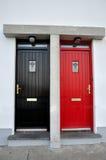 χρωματισμένες πόρτες Στοκ Φωτογραφία
