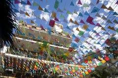 χρωματισμένες σημαίες Στοκ Εικόνα