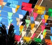 χρωματισμένες σημαίες Στοκ Φωτογραφίες