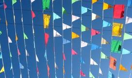 χρωματισμένες σημαίες Στοκ εικόνα με δικαίωμα ελεύθερης χρήσης