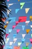 χρωματισμένες σημαίες Στοκ φωτογραφίες με δικαίωμα ελεύθερης χρήσης
