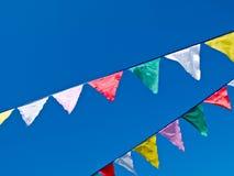Χρωματισμένες σημαίες Στοκ φωτογραφία με δικαίωμα ελεύθερης χρήσης