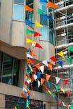 χρωματισμένες σημαίες Στοκ Εικόνες