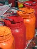 χρωματισμένες σκόνες Στοκ φωτογραφία με δικαίωμα ελεύθερης χρήσης