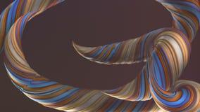 Χρωματισμένες στριμμένες μορφές Ο υπολογιστής παρήγαγε αφηρημένο γεωμετρικό τρισδιάστατο δίνει τη ζωτικότητα βρόχων HD ψήφισμα απεικόνιση αποθεμάτων