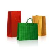 Χρωματισμένες συσκευασίες για τα δώρα διακοπών Στοκ Εικόνες