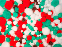 Χρωματισμένες σφαίρες βαμβακιού Στοκ Φωτογραφίες