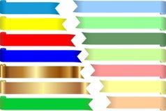 Χρωματισμένες ταινίες Στοκ φωτογραφία με δικαίωμα ελεύθερης χρήσης