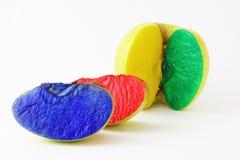 Χρωματισμένες φέτες της Apple Στοκ Εικόνες