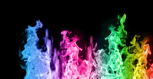 χρωματισμένες φλόγες Στοκ εικόνα με δικαίωμα ελεύθερης χρήσης