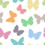 Χρωματισμένη άνευ ραφής πεταλούδα σχεδίων ελεύθερη απεικόνιση δικαιώματος