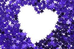 χρωματισμένη ανασκόπηση καρδιά πλαισίων που διαμορφώνεται Στοκ Εικόνες