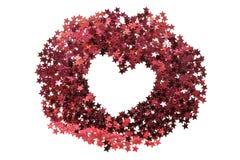 χρωματισμένη ανασκόπηση καρδιά πλαισίων που διαμορφώνεται Στοκ φωτογραφίες με δικαίωμα ελεύθερης χρήσης