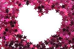 χρωματισμένη ανασκόπηση καρδιά πλαισίων που διαμορφώνεται Στοκ φωτογραφία με δικαίωμα ελεύθερης χρήσης