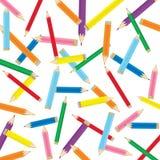 Χρωματισμένη ανασκόπηση μολυβιών Στοκ Φωτογραφία