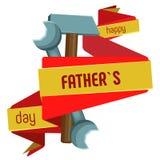 Χρωματισμένη απομονωμένη διάνυσμα εικόνα την ημέρα πατέρων ` s Στοκ εικόνες με δικαίωμα ελεύθερης χρήσης