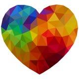 Χρωματισμένη απομονωμένη καρδιά ελεύθερη απεικόνιση δικαιώματος
