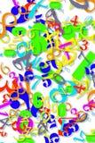 χρωματισμένη αριθμητική τα&pi Στοκ φωτογραφία με δικαίωμα ελεύθερης χρήσης