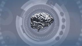 Χρωματισμένη ασήμι περιστροφή εγκεφάλου διανυσματική απεικόνιση