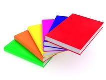 χρωματισμένη βιβλία σκάλα Στοκ Φωτογραφία