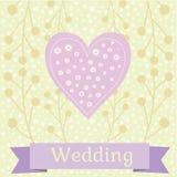 Χρωματισμένη γαμήλια απεικόνιση με τα περιστέρια αγάπης Στοκ εικόνες με δικαίωμα ελεύθερης χρήσης