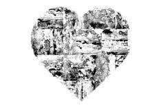 Χρωματισμένη γραπτή αφηρημένη καρδιά ελεύθερη απεικόνιση δικαιώματος